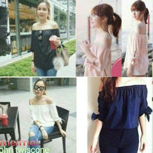 Alika Jumbo Blouse Atasan Wanita Bigsize Batik Putih White baju atasan in pendek cantik murah