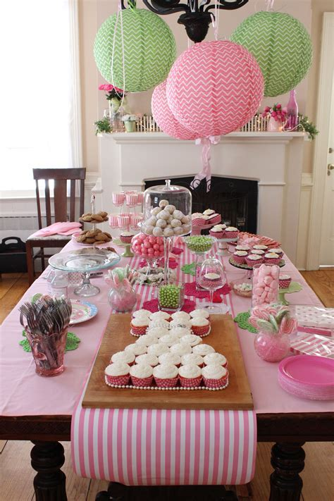 Bridal Shower table decor   Table Decorations   Pinterest