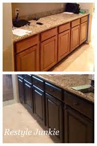 Gel Stained Cabinets Before And After by Choosing The Right Gel Stain Java Gel Stain Vs