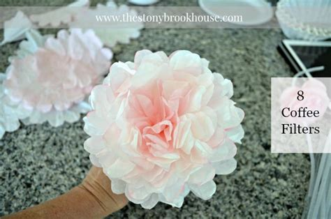 how to make coffee filter peonies easy coffee