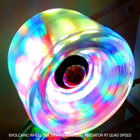 light up speed skates volcanic self lightup skate wheels roller speed
