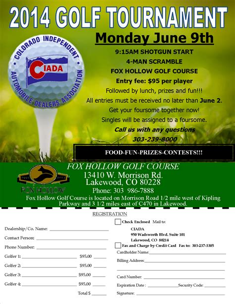 golf outing flyer template golf tournament flyer ad template word publisher motorcycle review and galleries