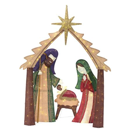 target nativity scene decorations home accents 6 ft led deciduous tree sculpture with multi color lights 7407200uho the