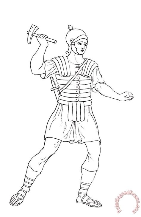 free roman solider clothing coloring pages