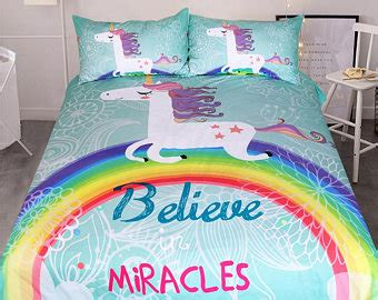 unicorn bedding twin unicorn bedding etsy