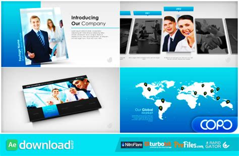 company profile after effects templates free simple company presentation videohive project free