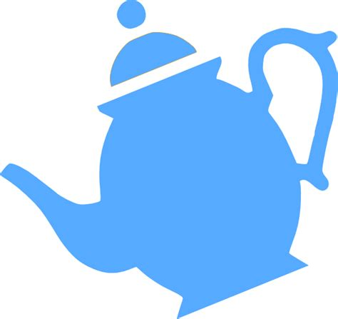 blue tea kettle  background clipart collection