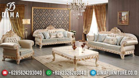 Sofa Jepara Di Medan sofa tamu jepara duco ivory emas mewah terbaru df 0511