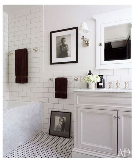 106 Best Images About White Subway Tile Bathrooms On Pinterest New York Bathroom Design