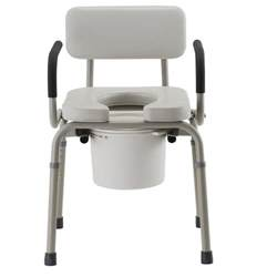 padded drop arm commode commodes