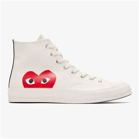 Kaos Cdg Converse Logo Kaos Cdg Converse Cdg Converse converse x cdg play ct 70 hi milk white bows and arrows