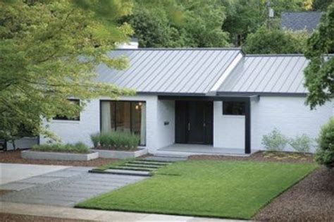 white ranch house lil white ranch with metal roof and black trim take it outside pinterest