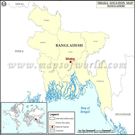 where is dhaka on the world map where is dhaka location of dhaka in bangladesh map