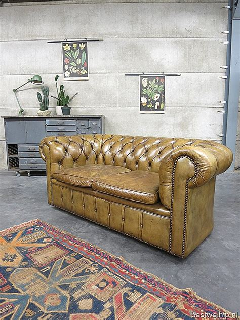 chesterfield bank authentieke vintage leren chesterfield bank sofa bestwelhip