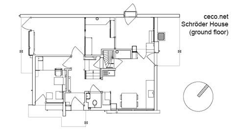 schroder house floor plan rietveld schroder house in utrecht ground floor block in