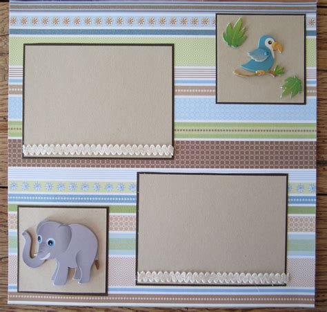 photography scrapbook layout ideas 12 x 12 premade scrapbook page baby boy 2 page scrapbook
