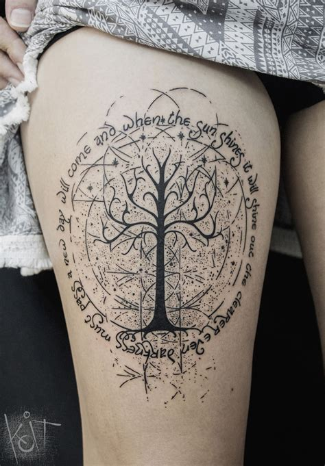 tree of gondor tattoo koit berlin white tree of gondor theme with