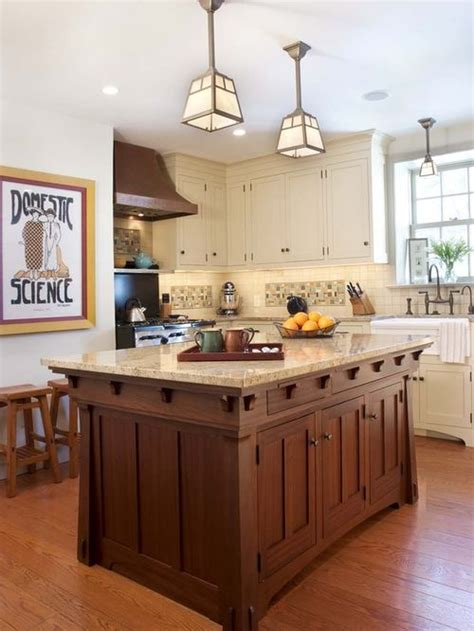 mission style kitchen island craftsman style kitchens home design ideas pictures