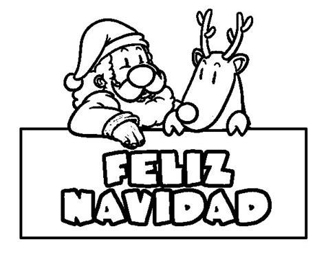 imagenes que digan navidad dibujo de felices navidades para colorear dibujos net