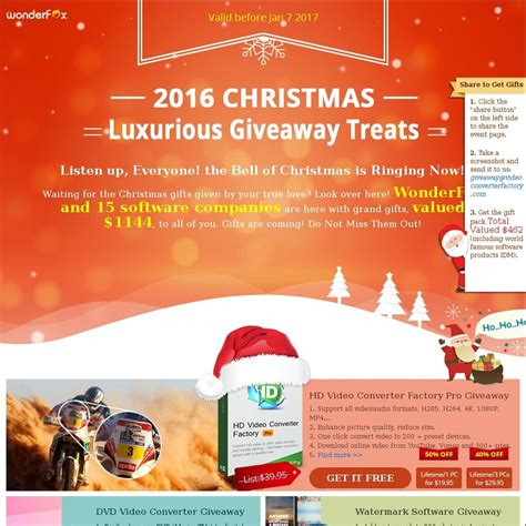 Christmas Giveaways 2017 - wonderfox 2016 christmas 2017 new year giveaway carnival 15 software worth 1144