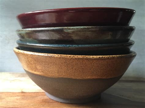 Handmade Clay Bowls - contemporary stoneware bowls handmade pottery bowl set