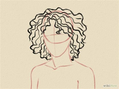 how to draw curly hair 12 steps with pictures wikihow how to draw curly hair