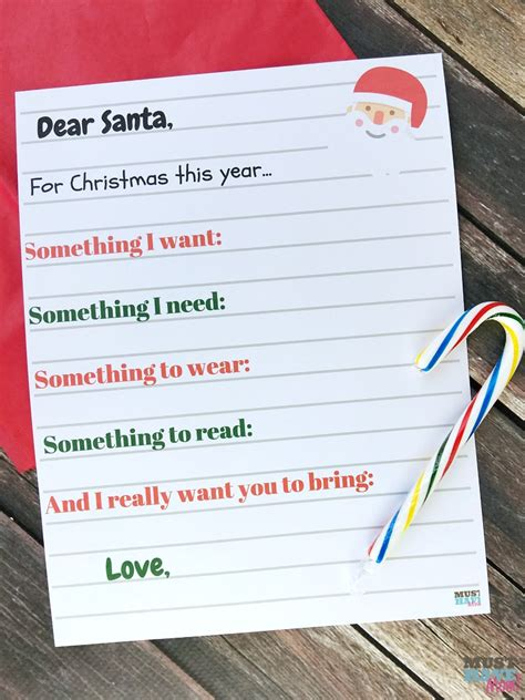 Letter List doc 8591100 santa wish lists free printable letter to