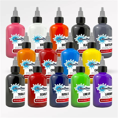 starbrite tattoo ink starbrite ink 14 color set