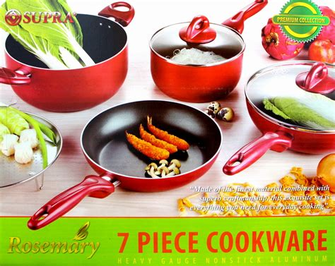 Panci Warna Warni Vicenza panci set premium collection supra rosemary wokpan 7 pcs