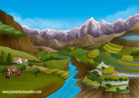 imagenes de paisajes andinos ilustraci 211 n paisaje andino to 241 ito avalos ilustrador