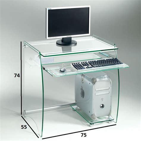 Meuble Pour Informatique by Meuble Informatique Verre Table Bureau Design Lepolyglotte
