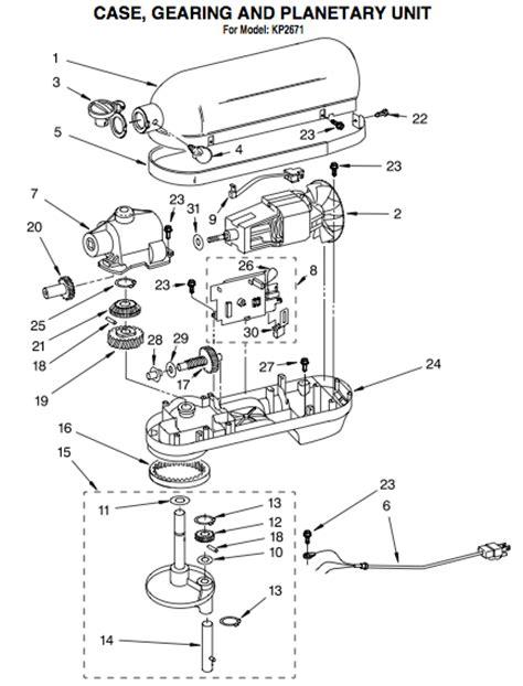 kitchenaid artisan mixer parts diagram kitchenaid artisan mixer parts diagram 28 images