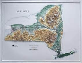 New York Topographic Map by Raised Relief Maps 3d Topographic Map Us State Series