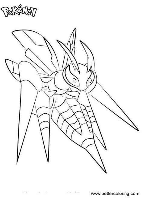 mega coloring pages coloring pages mega beedrill free printable