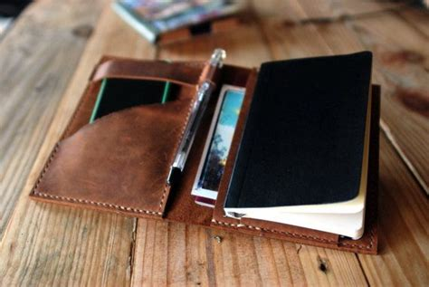 Cover Organizer Small Brown moleskine cover agenda leather cover pocket moleskine