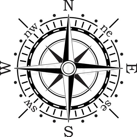 vector black compass stock vector