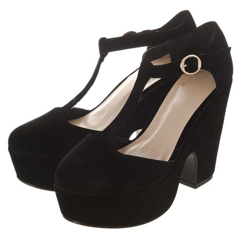 t bar chunky heels heel sea