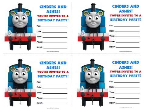 printable birthday invitations thomas the tank engine thomas tank engine birthday invitations free printable