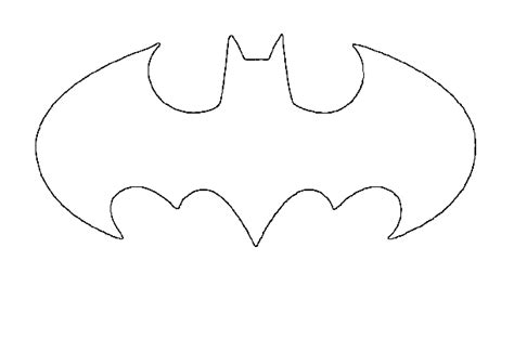 printable pumpkin stencils batman bat symbol stencil cliparts co