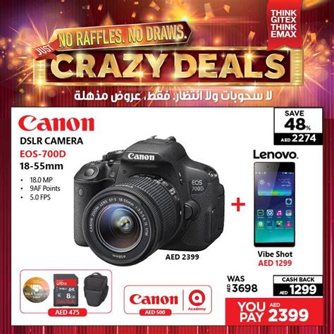 dslr offers canon dslr eos 700d amazing offer at emax