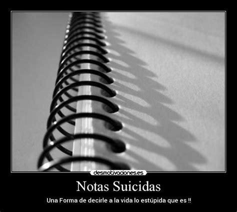 Imagenes Notas Suicidas | notas suicidas desmotivaciones