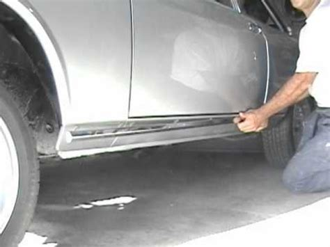 how to , rocker panel trim removal youtube