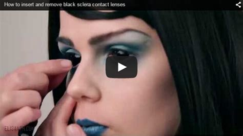 Putting In And Removing Contact Lenses by How To Insert And Remove Black Sclera Contact Lenses