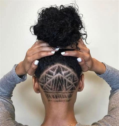 hair thinning nape area black women 20 cute shaved hairstyles for women