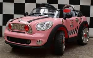 Mini Cooper Auto Speelgoed Kinderauto Mini Cooper Look Roze Accu Kinder