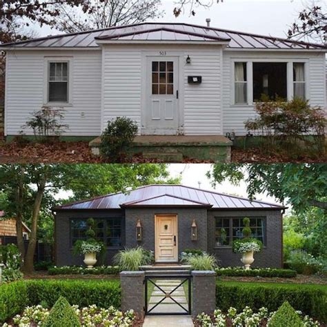 home design before and after 10 inspiring before and after exterior makeoversbecki owens