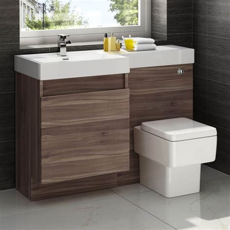amazon bathroom furniture 1200mm walnut vanity unit square toilet bathroom sink left