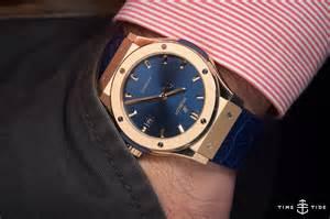Hublot King Gold On The Hublot Classic Fusion King Gold Blue Time
