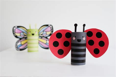 Ladybug Toilet Paper Roll Craft - crafts for who critters project junior