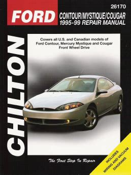 free online auto service manuals 1999 mercury mystique seat position control 1995 1999 ford contour mercury mystique cougar chilton total car care manual
